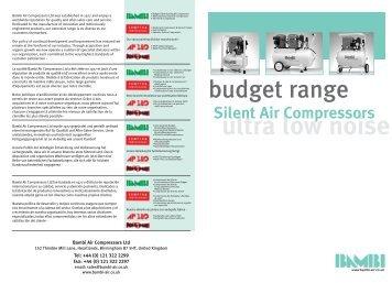 Budget Range - Maziak Compressor Services
