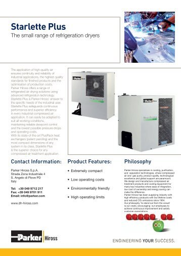 SPL Range - Maziak Compressor Services