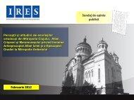 vezi aici sondajul IRES (.pdf) - Ziua de Cluj