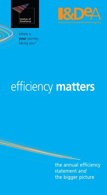 efficiency matters - Constructing Excellence