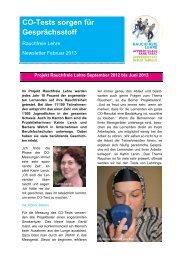 Newsletter Februar 2013 - Rauchfreie Lehre