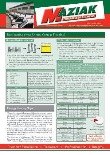 Latest Newsletter - Maziak Compressor Services