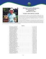 North Carolina Mid-Amateur - Carolinas Golf Association