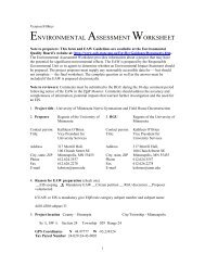 environmental assessment worksheet - Capital Planning and Project ...