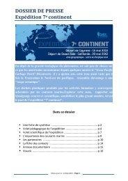Le dossier de presse - Mercator Océan