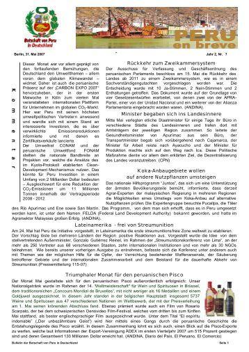 Bulletin 2.Jahr / Nr.7 - Botschaft der Republik Peru