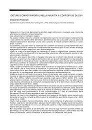 i disturbi comportamentali nella malattia a corpi diffusi di lewy - Limpe