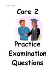Core 2 Question Book.. - Mr Barton Maths