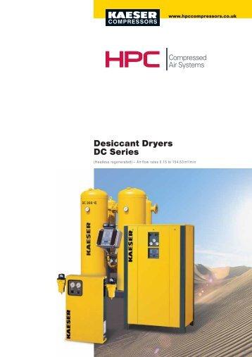 Desiccant Dryers DC Series - Maziak Compressor Services