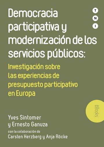Democracia participativa y modernización de los servicios públicos