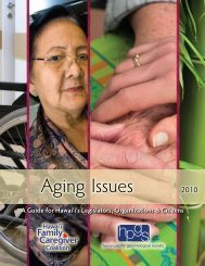 Aging Issues 2010 - National Alliance for Caregiving