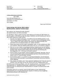 Brief an den Oberbürgermeister und die Ratsfraktionen der Stadt Bonn