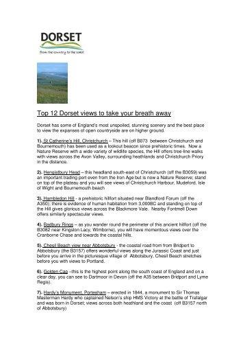 Top 12 Dorset views to take your breath away - Visit Dorset