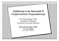 Einführung in die Informatik II Ereignis-basierte Programmierung