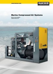 Marine Compressed Air Systems - KAESER KOMPRESSOREN GmbH