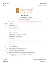 Download Product Specifications - Element Designs