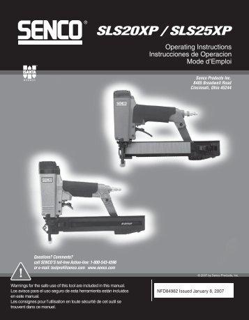 NFD84982 SLS20XP and SLS25XP 1-8-07 - Senco