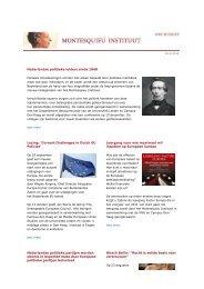 Nederlandse politieke leiders sinds 1848 Lezing - Montesquieu ...