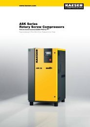 Rotary Screw Compressors ASK Series - Kaeser Kompressoren