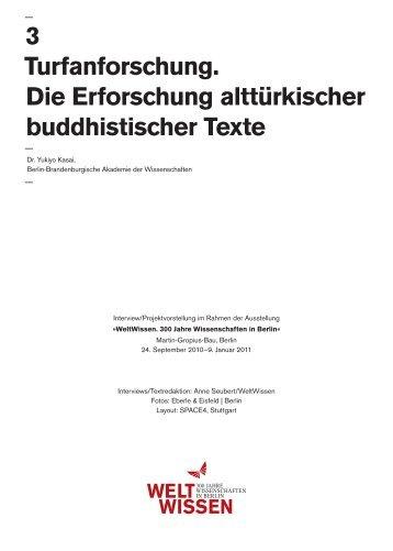 3 Turfanforschung. Die Erforschung alttürkischer buddhistischer Texte