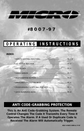 8007-97 installation operating instructions - Micro Alarms