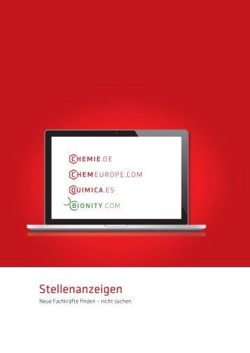 Factsheet Stellenanzeigen - about CHEMIE.DE