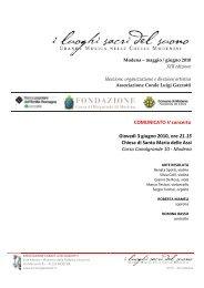 Comunicato Stampa V concerto - Coro Luigi Gazzotti