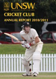 2010-11 - University of New South Wales Cricket Club