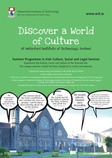 Discover a World of Culture - Waterford Institute of Technology
