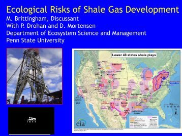 Ecological Risks of Shale Gas Development - Catskill Citizens for ...