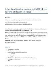 Arbejdsmiljøudvalgsmøde d. 25.08.11 ved Faculty of Health Sciences