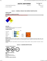 ACETIC ANHYDRIDE - Faculty web pages
