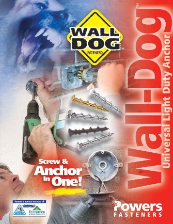 Powers - Wall Dog Light Duty Fasteners - Dixie Construction Products