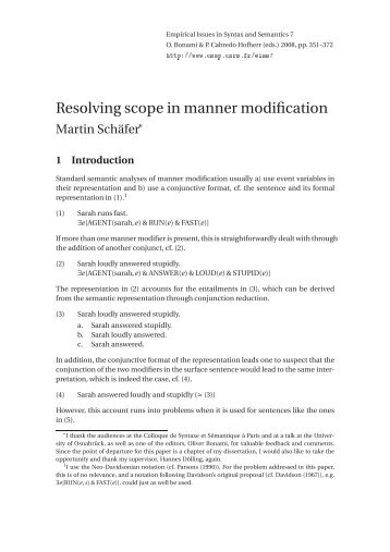 Resolving scope in manner modification - CSSP