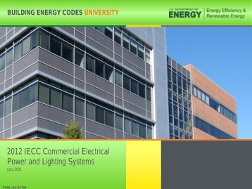 2012 IECC Commercial Electrical Power and Lighting Systems