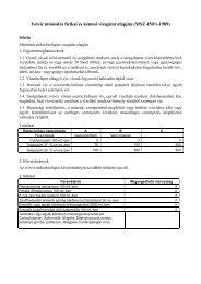 Ivóvíz minősítés fizikai és kémiai vizsgálat alapján \(MSZ 450/1-1989\)