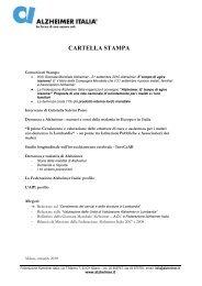 Cartella stampa 2010 - Alzheimer Italia
