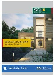 SDL Trados Studio 2014 Installation Guide - Online Product Help