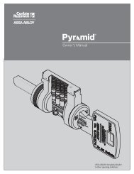 Owner's Manual - ASSA ABLOY Door Security Solutions :: Extranet