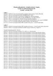 Obsah nahrávek AUDIO 1 a AUDIO 2
