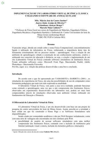 IMPLEMENTAÇÃO DE UM LABORATÓRIO ... - Axpfep1.if.usp.br