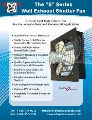Soler Palau Wall S Brochure - James Electric