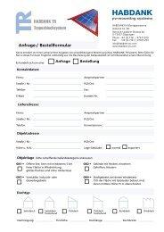 Anfrage-, Bestellformular Habdank TR Stand 13.12.11 - Habdank-PV