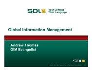 Global Information Management - SDL