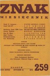 Nr 259, styczeń 1976 - Znak