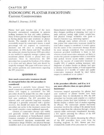 Endoscopic Plantar Fasciotomy - The Podiatry Institute