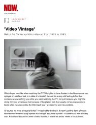 'Video Vintage' - Beirut Art Center