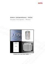 TDG Serie Three phase - Power capacitors – TDG se