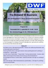 Fra Bistand til Business Når udviklingsbistand afløses af - Danish ...