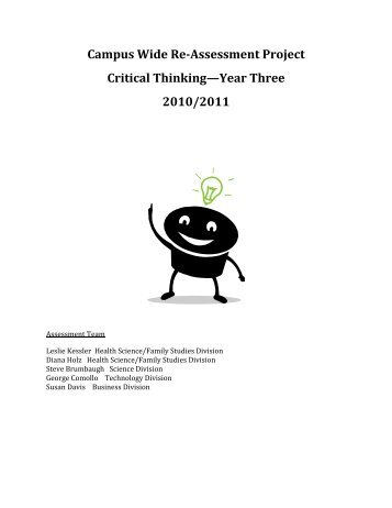 Assessment of Critical Thinking learning outcome - Green River ...